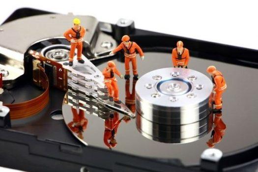 Выбираем жесткий диск